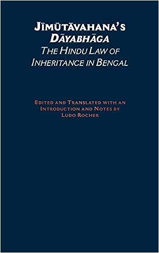 Buy Jimutavahana's Dayabhaga: The Hindu Law of Inheritance in Bengal (South  Asia Research) Book Online at Low Prices in India | Jimutavahana's Dayabhaga:  The Hindu Law of Inheritance in Bengal (South Asia