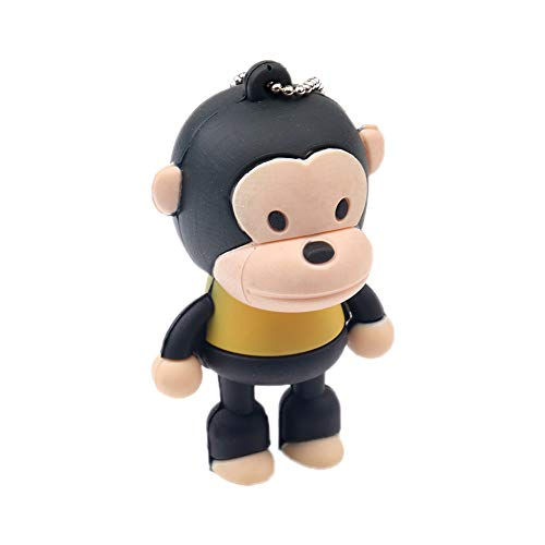 MoGist Black Monkey Shape USB Flash Drives 2.0 Memory Stick U Disk 2GB 4GB 8GB 16GB 32GB USB Drive Gift (2GB) (Drive Monkey Pen)