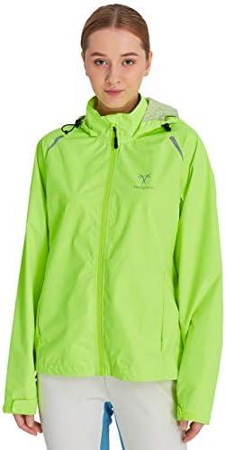 Hodgsonii Women's Running Jackets Outdoor Hooded Biking Cycling Windbreaker Warterproof Windproof Packable Reflective