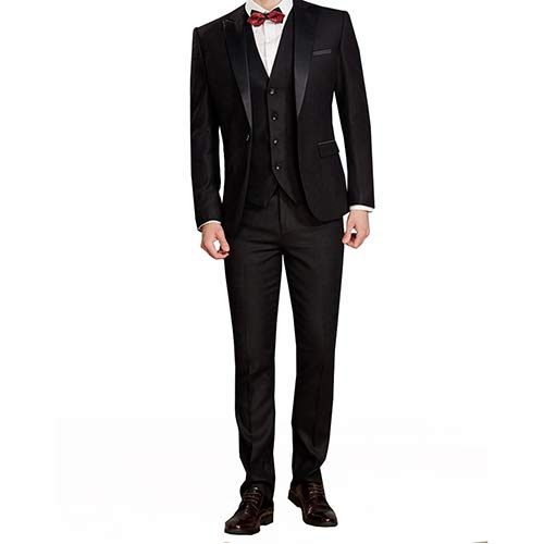 Sliktaa Gilet Business De 3 Bal Fit Costume Classique Slim Veste Pantalon Smoking  Pièces Formel En 6 Homme Et Mariage ... 38eceaf3132