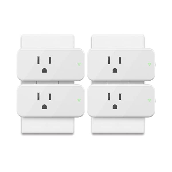 Alexa Mini Smart Plug, Maxcio 15A WiFi Outlet with Energy Monitoring, No  Hub Required, Compatible with Alexa and Google Assistant, Control your
