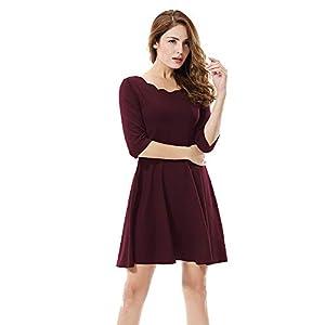 ADDYVERO Women's Cotton Skater Dress