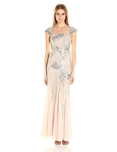 Adrianna Papell Womens Sleeve Beaded product image