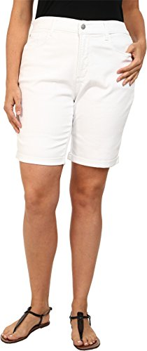 NYDJ Women's Plus-Size Briella Short, Optic White, 22W