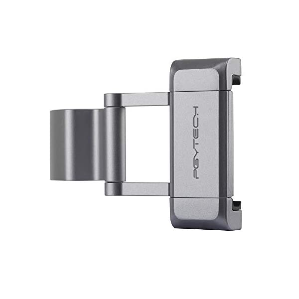 Hensych per PGYTECH per Osmo Pocket/Osmo Pocket 2 Phone Holder +,Porta telefono in alluminio pieghevole Plus Set di parentesi per telefono cellulare (larghezza≤90mm) 3 spesavip