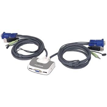 Amazoncom IOGEAR 2Port MiniView Micro PS2 Audio KVM Switch with