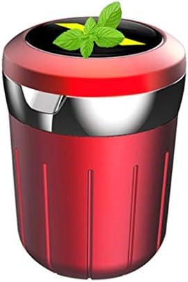 多機能車の灰皿、シボレーとの互換性、ふた付きすす収納缶車内旅行 (Color : 赤)