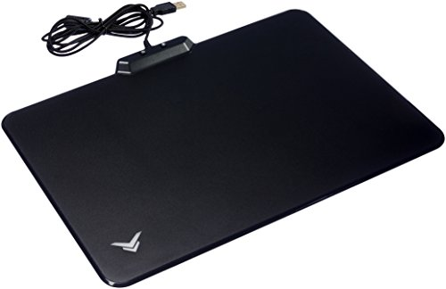Amazon Basics Hard Gaming Mouse Pad with LED Lighting Effects