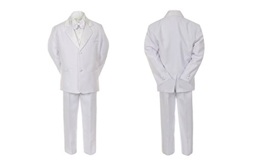 Unotux Boys White Formal Baptism First Communion Vest Set Suits Tuxedo Baby Teen -