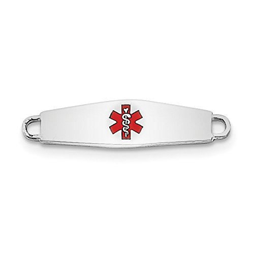 Sterling Silver Medical ID Plate