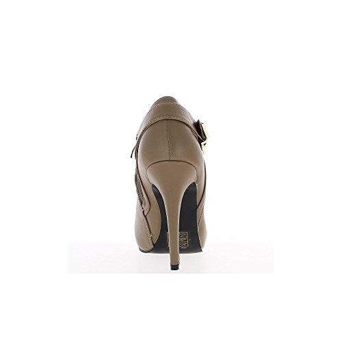 Bottines femme taupes style richelieu talon de 11cm
