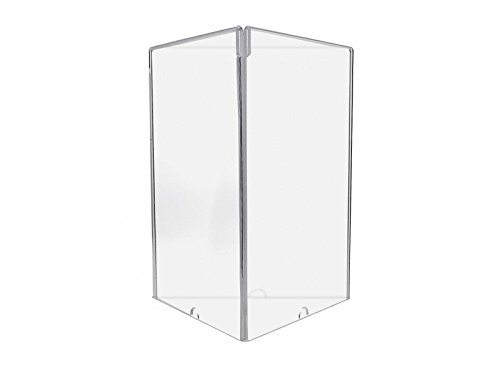 Marketing Holders Sign Holder Top Load Three Sided Table Tent Clear Acrylic 8.5'' x 11'' Frame Lot of 10 by Marketing Holders