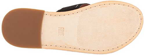 Frye Kvinna Avery Pickstitch Slide Platt Sandal Svart