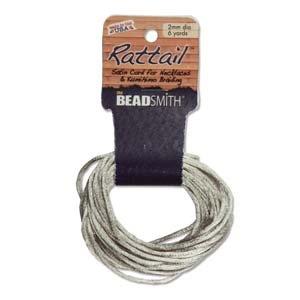 2mm Satin Rattail Braiding Cord Tan 6 Yards For Kumihimo and Craft