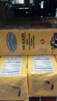 James Farm 160 Slice Yellow American Cheese 5 Lb.