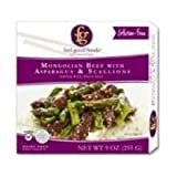 FEEL GOOD FOODS Entre Mongolian Beef with Asparagus, 9 Ounce (Pack of 8)
