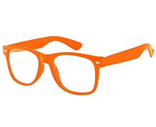 Adult Lorax Costume (Retro Style Classic Vintage Sunglasses Clear Lens Colored Frame)
