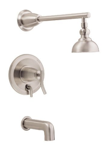 Danze D504054BNT Sonora Tub and Shower Trim Kit, Brushed Nickel, Valve Not Included