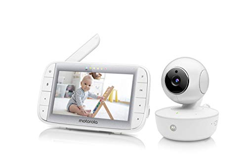 "31N5ci 32SL - Motorola Video Baby Monitor 5"" Color Parent Unit, Remote Pan/Tilt/Zoom, Portable Rechargeable Camera, Two-Way Audio, Night Vision, 5 Lullabies, MBP36XL"