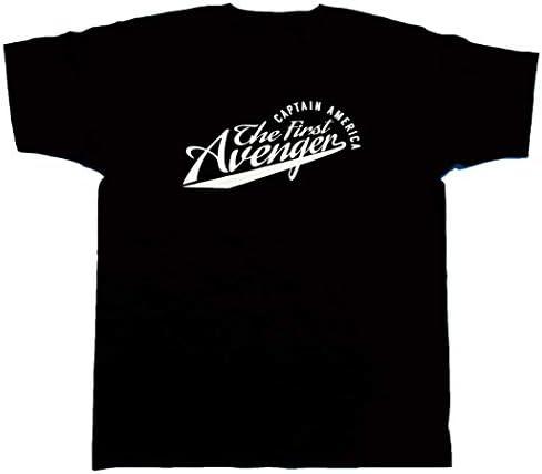 마블 MARVEL 【 국내 공식 감수 】 T 셔츠 캡틴 아메리카 대학 바람 T 셔츠 / Marvel MARVEL [Domestic Official Supervisio