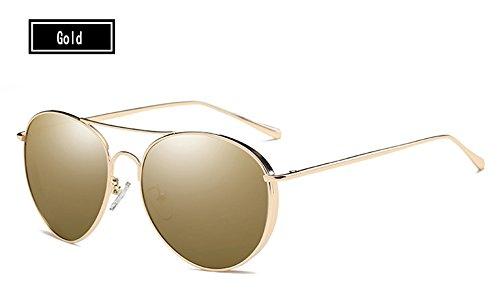 Silver Gafas Ronda Silver Hombre Mujeres del sol trasera TL Hombres la de Sunglasses Gold parte de gafas Gafas a sol Mujer polarizadas espejo gafas Tq1xxI5B