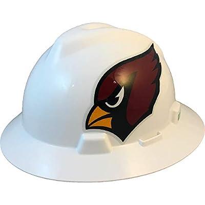 MSA 10194742 NFL V-Gard Full Brim Hard Hat, Arizona Cardinals