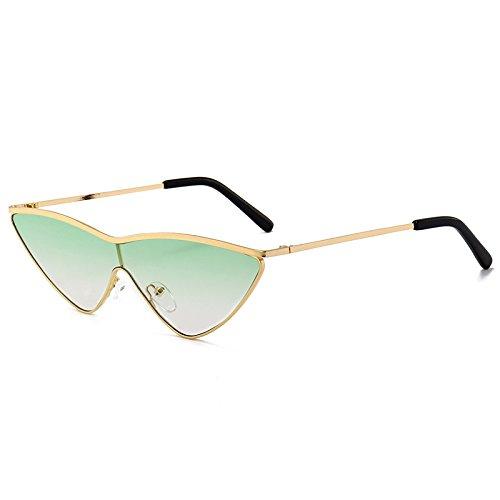 Tamaño triángulo Marca de Pequeño Mujeres gradiente de Gafas Señoras Gato Burenqi Gafas E Gafas de E Lindo Diseño de Sol Ojo Nuevas tonalidades 4waO8