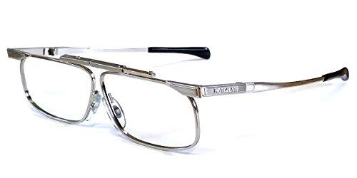 SlimFold Kanda (003) of Japan Folding Reading Glasses w/ Case in Silver ; - In Japan Made Glasses