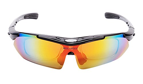 WOSAWE Professional Cycling Polorized Goggle Blinkers With 4 Pieces Of Lens Multicolour by WOSAWE®