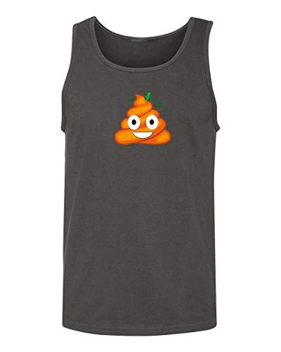 Falcon's Shop FUUNY Smiley Face Poo Halloween Costume Men's Tank Top Shirt for Men(Charcoal,Small) -
