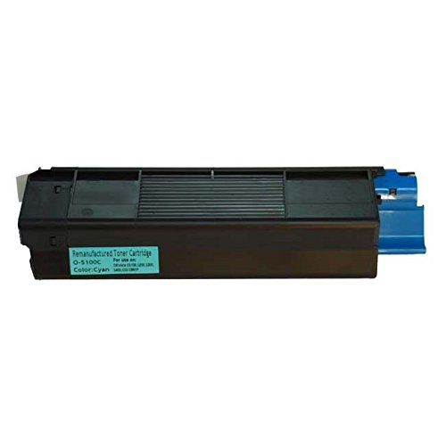 Bulk 42127403 Oki-Okidata Compatible Laser Toner Cartridge, Cyan Ink: CO5200C (5 Toner (42127403 Laser)