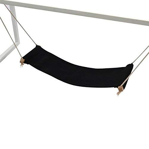 Comfy Bunny Comfortable Mini Adjustable Black Desk Foot Hammock Footrest plantar fasciitis Friendly