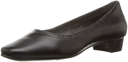 Aerosoles Women's Subway Dress Pump, black leather, 8 M US
