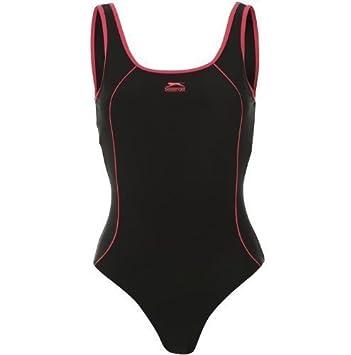 f694aed80189c9 Slazenger Damen Badeanzug schwarz , Basic: Amazon.de: Sport & Freizeit