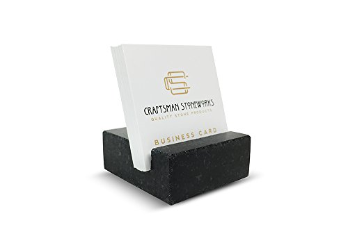 Absolute Black Marble - Square Business Card Holder made from Black Absolute Granite
