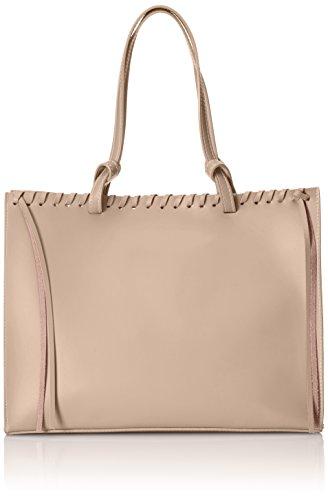 CTM bolso de mano para mujer con bolsa en el interior desmontable, de piel genuina hecho en Italia, recubierto de corcho - 38x30x15 Cm Rosa