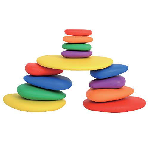 edx Education Rainbow Pebbles - Sorting and Stacking Stones by edxeducation (Image #1)