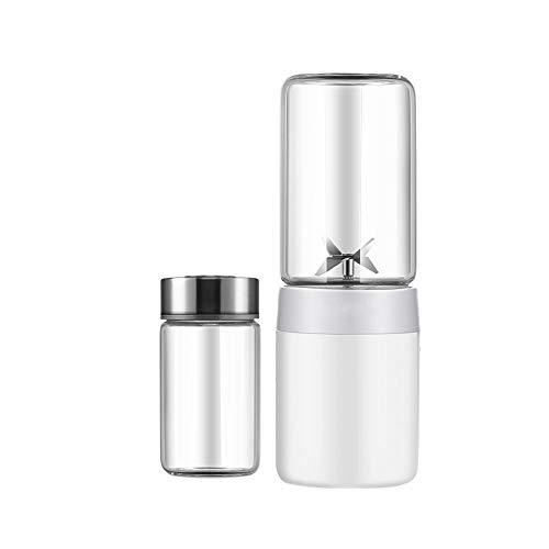 YONGYONG Portable Juicer USB Charging Austrian 304 Steel Knife Durable High Temperature Borosilicate Glass 7cm20cm White (color : White, Size : B) ()