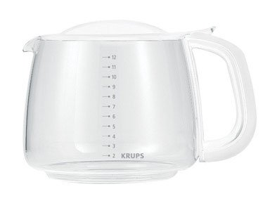 KRUPS F15B0G Glass Carafe, 12-Cup, White