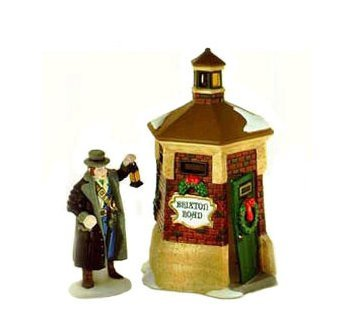 Dickens Village Series ~ Retired ~ Brixton Road Watchman ~ Mint Condition