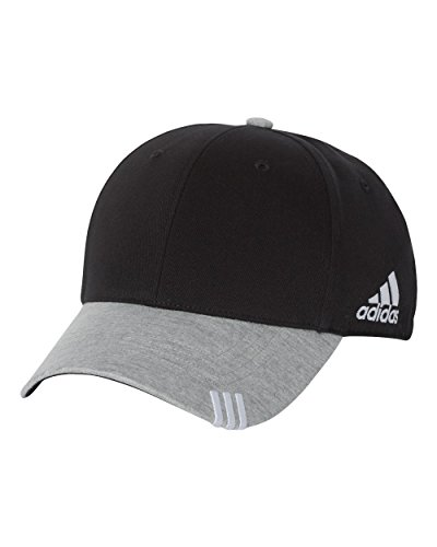 Adidas T-shirt Cap (adidas - Collegiate Heather Cap - A625-Black/Medium Grey Heather)