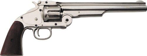 (Denix 1869 Schofield Style Revolver, Nickel Finish - Non-Firing Replica)