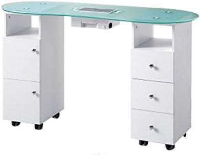 Mesa para manicura de dos lados con cajones+ Aspirador para uñas ...