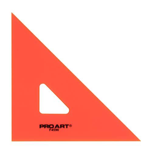 (PRO ART 6-Inch 45/90-Degree Triangle, Fluorescent)
