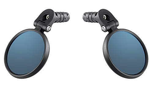 Venzo Bicycle Bike Handlebar Mirror Blue Lens 75% Anti-Glare Glass Pair For Sale