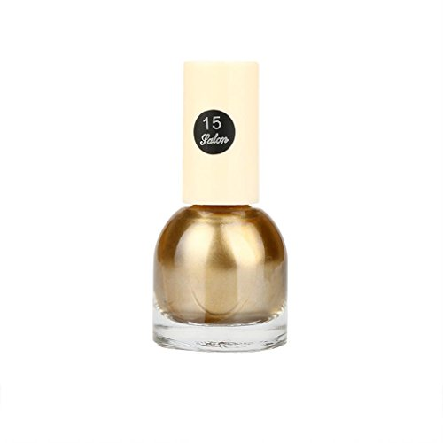 Price comparison product image Sympath 10ml Flow Gold Mirror Chrome Effect Nail Polish Foil Nails Art Glitter Silver (O)