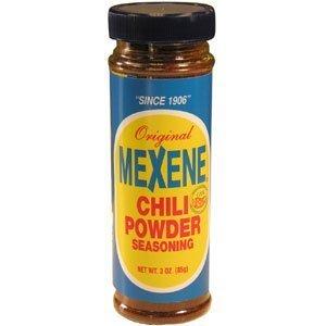 Mexene Original Chili Powder Seasoning 3oz Bottle (Pack of 6) by Mexene