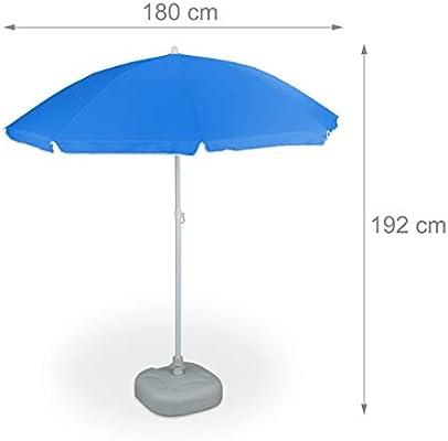inclinabile Unisex Adulto Spiaggia Relaxdays Ombrellone da Giardino 8 Stecche