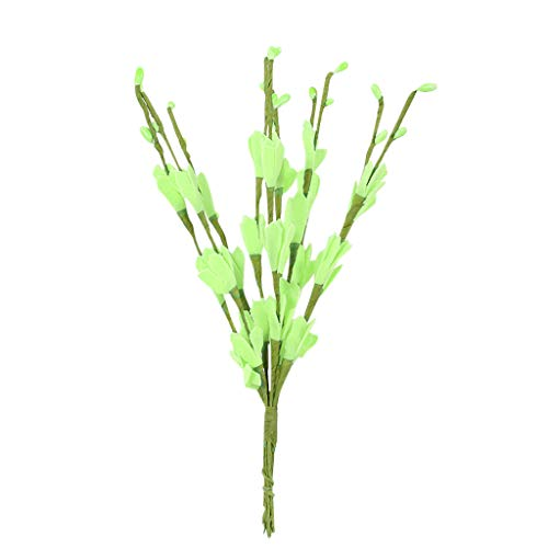 CCatyam Artificial Flowers for Decoration, Mini Fake Real Looking Silk Bouquet, Green Plant Decor Party Wedding Home Garden