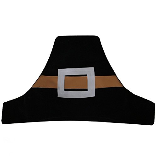 [Pilgrim Hat Black Felt, soft lightweight, Nice] (Baby Pilgrim Costumes)